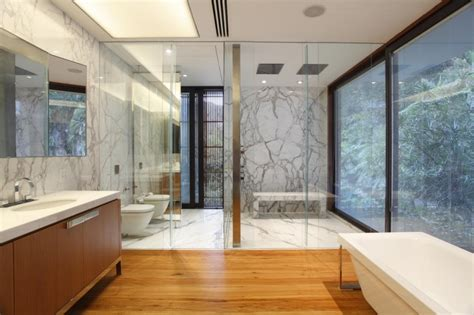 Modern Homes Bathrooms Contemporary Colonial Home In Decorated In Neutral Palette Modern House Designs