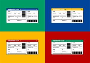 free airline ticket boarding pass vector download free