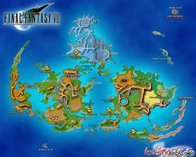 Ff1 World Map by Final Fantasy Vii World Map Onlineshoesnike