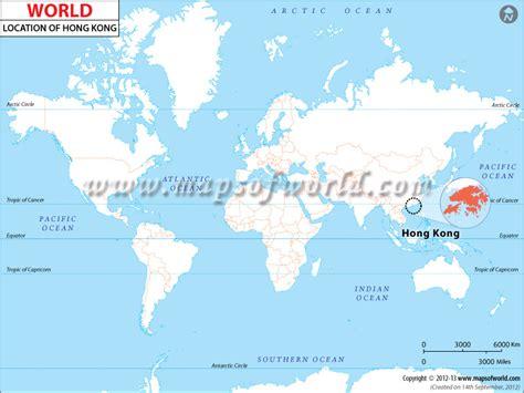 hong kong located  world map hong kong