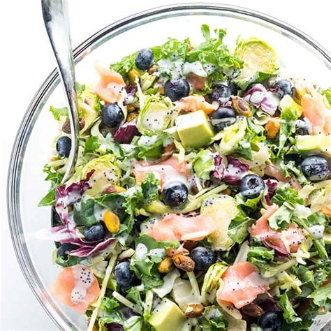 Superfood Detox Recipes by Salmon Kale Superfood Salad Recipe With Lemon