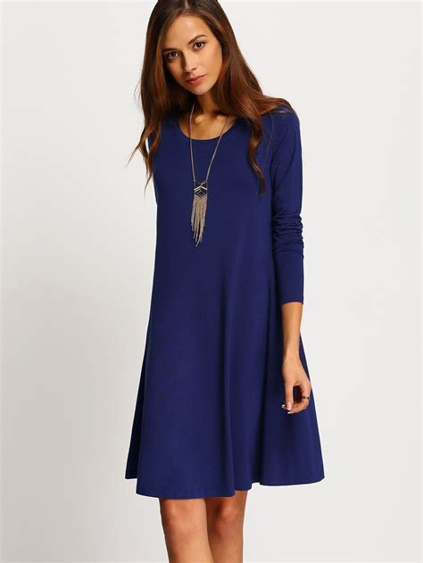 blue pattern long sleeve dress fabric fabric is very stretchy season fall pattern type