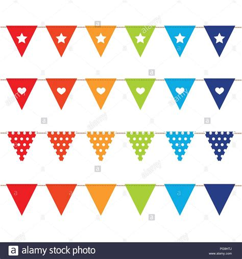colored flags colored flags cut out stock images pictures alamy