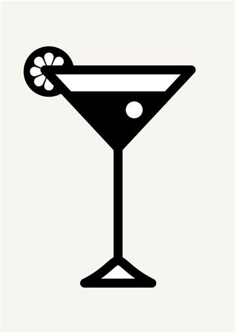 cocktail silhouette icon prints drinks serie by brigada creativa via behance