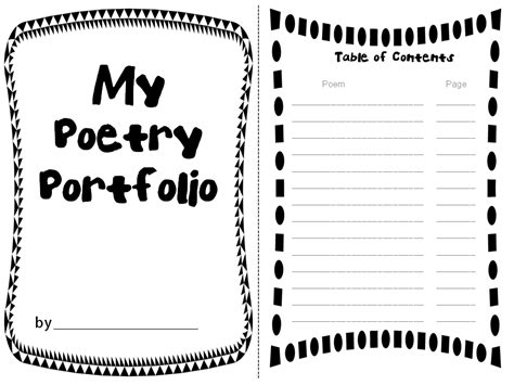poetry booklet template rockin resources poetry portfolio with adorable templates
