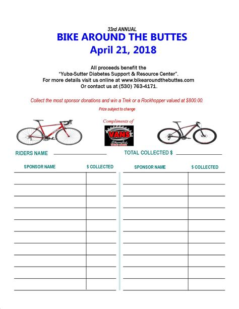 Sponsorship Letter Cycling prizes for most donation