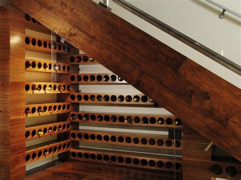 under stair wine cellar 9 staircase storage ideas diy