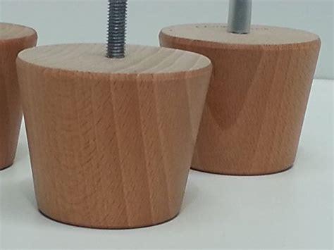 piedini per divani 4 piedini di legno rotondi per mobili gambe in legno di