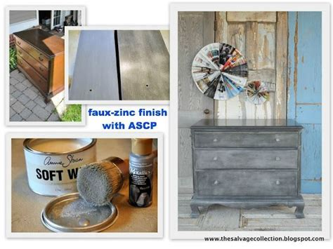 chalk paint zinc finish faux zinc finish with ascp from the salvage collection