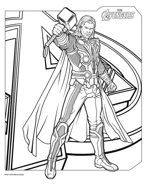 blank coloring pages avengers coloriages the avengers le film dessin de thor fils d