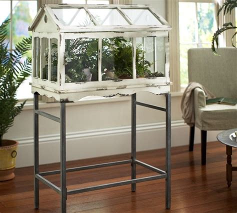terrarium stand traditional terrariums by pottery barn