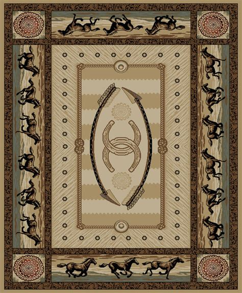 Western Area Rug Dean American Western Lodge Cabin Ranch Area Rugs 5 3 Quot X 7 3 Quot Cheyenne Rustic By Dean