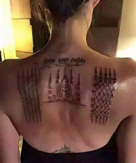 pictures of back tattoos top 10 superb angelina jolie tattoos images sheideas