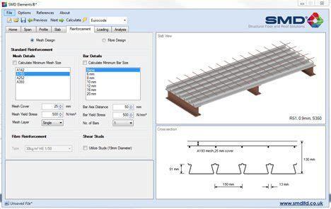 slab layout software services smd thru deck