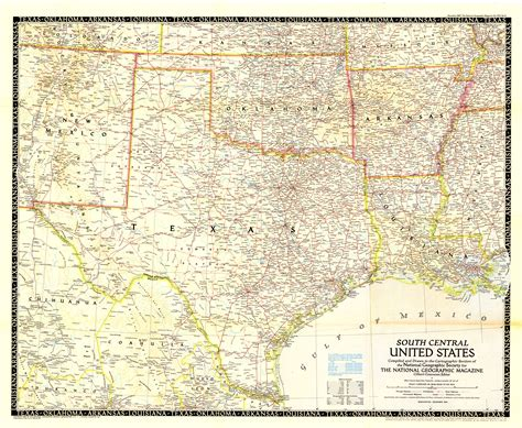 texas oklahoma map 1948 highway and railroad map