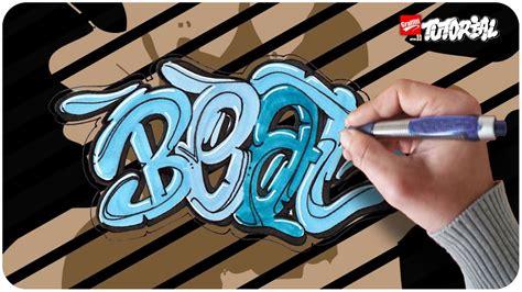 beat bubble style graffiti tutorial schritt fuer schritt