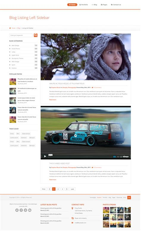 theme bootstrap free blog 30 bootstrap website templates free download