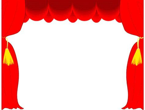 play theater stage clip art theatre borders clipart