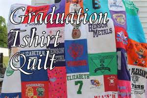 a quilt out of tshirts for graduation the country