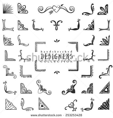 vintage design elements corners vector free vintage decorative corners collection hand drawn vector