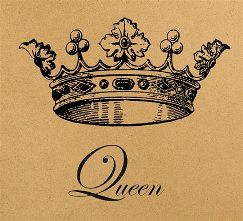 tattoo queen print queen crown digital image download sheet by
