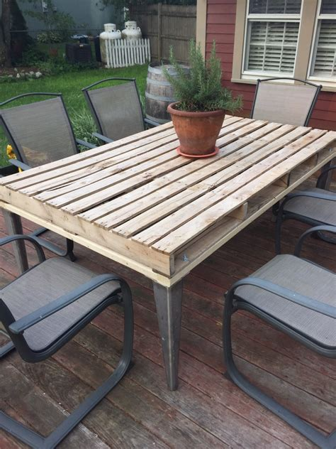 Patio Coffee Table Out Of Wooden Pallets Pallet Ideas Wood Patio Tables