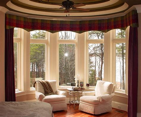 window valances ideas bay window curtains ideas for privacy and beauty
