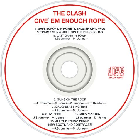 Clash Give Em Enough Rope Cd the clash fanart fanart tv