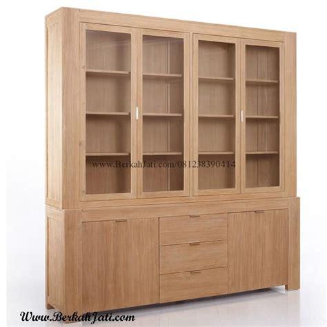 Lemari Kayu Ruang Tamu lemari pajangan minimalis berkah jati furniture berkah jati furniture