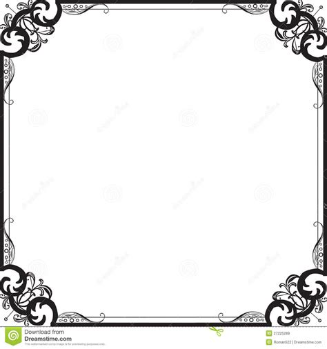 pattern with frame beautiful frame with a pattern royalty free stock images