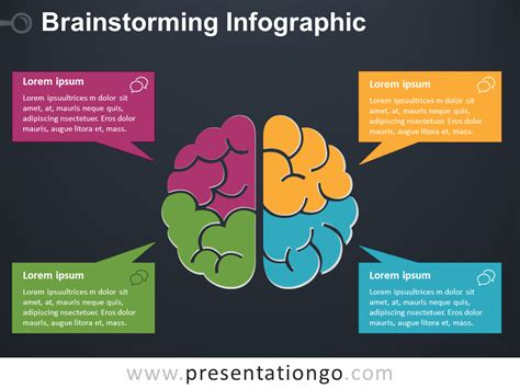 Brainstorming Infographic For Powerpoint Presentationgo Brainstorming Template Powerpoint
