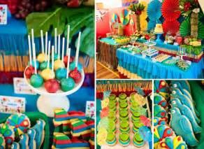 tropical themed southern blue celebrations tropical luau ideas