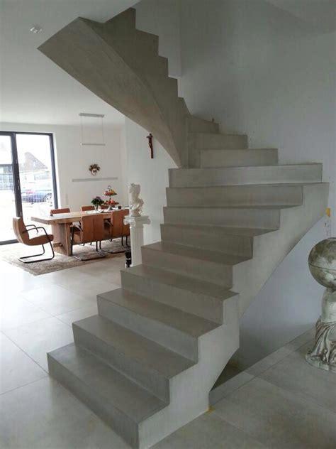 sichtbetontreppe innen beton cire oberfl 228 chen in beton look beton cire
