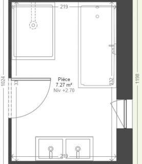 plan salle de bain baignoire 13 messages