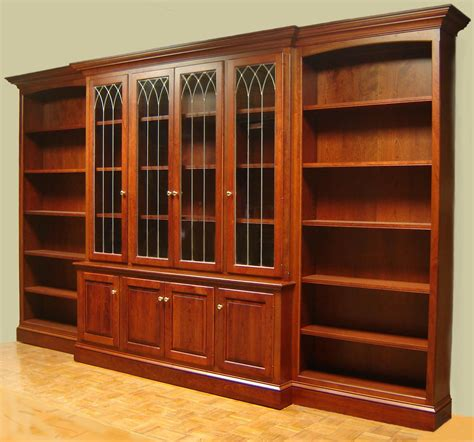 Wall Bookcase With Doors Woodwork Antique Bookcase Plans Pdf Plans