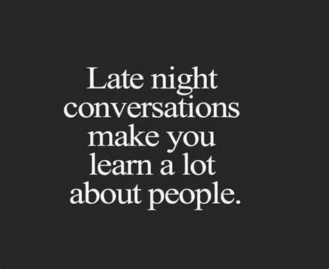 late conversations on