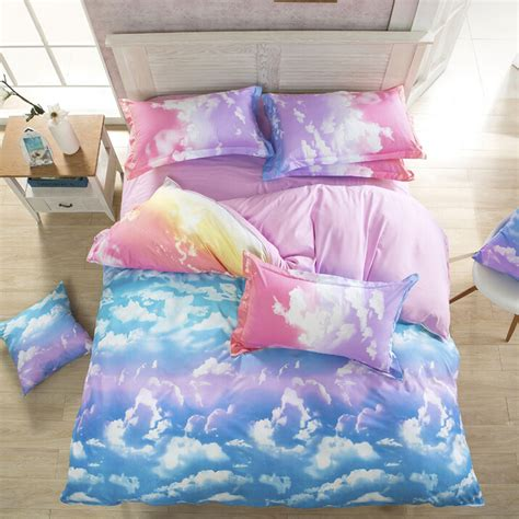 kawaii bed harajuku galaxy sheet bedding bag four piece 183 cute