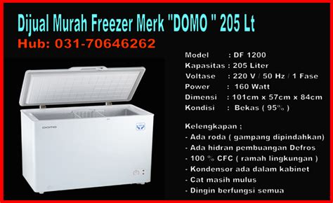 Freezer Bekas Di Surabaya iklan promo seluruh indonesia jual elektronik kulkas quot freezer 1 4 juta merk domo df 1200