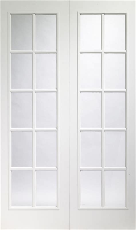 Interior White Glazed Doors Oak Door Portabello White Interior Door Pair