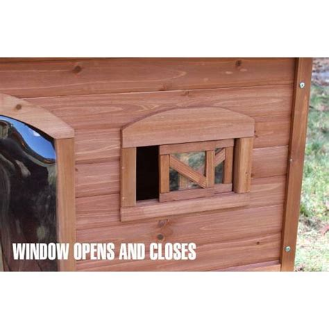 aspen dog house aspen cedar wood flat roof dog house for large dogs buy wood dog houses