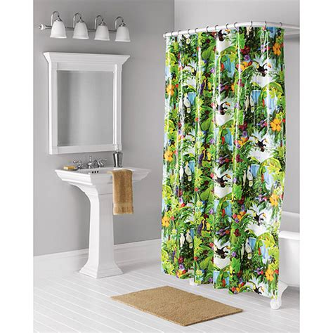 Home Trends Jungle Shower Curtain Bath Walmart Com