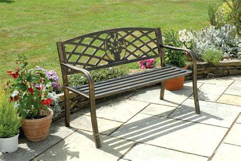 iron outdoor bench iron outdoor bench white metal image abovemetal garden