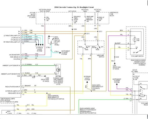 2004 chevy venture headlight wiring diagram free picture