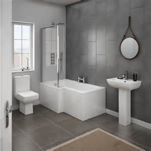 milan 4 piece modern bathroom suite from victorian l amp p shaped shower bath suites amp screen bathshop321