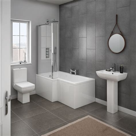 bathroom picture milan 4 modern bathroom suite from plumbing co uk