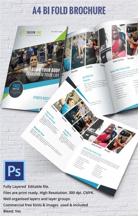 17 Best Gym Brochure Templates Download Documents In Psd A4 Size Brochure Templates Psd Free