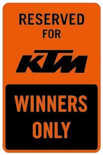 aomcmx ktm winners  parking sign