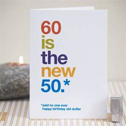 60th birthday card 60 birthday witty birthday card