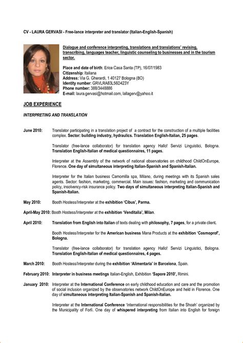 Curriculum Vitae Sle Of Teachers 8 Sles Of Curriculum Vitae For Teachers Basic Appication Letter