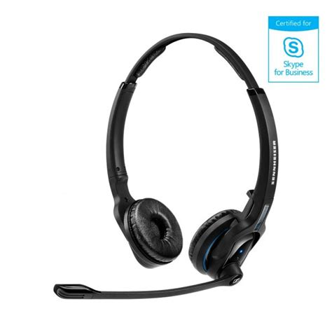 Headset Bluetooth Dual On sennheiser mb pro 2 dual bluetooth headset voip supply